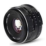 EBTOOLS 35mm F1.7 Aperture Manual Principal Lens Lente Multicapa Recubierta APS-C Accesorios para Sony SLR E Mount