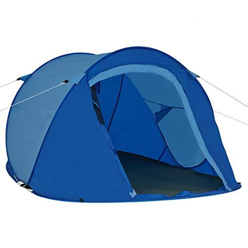 Duhome Pop Up Strandzelt Polyester Dunkel Blau + Hell Blau blitzschneller Aufbau Zelt Wurfzelt Wetter- und Sichtschutz Farbauswahl PT-001