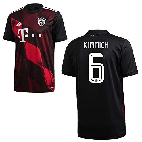 adidas Bayern Trikot 3rd Kinder 2021 - KIMMICH 6, Größe:128