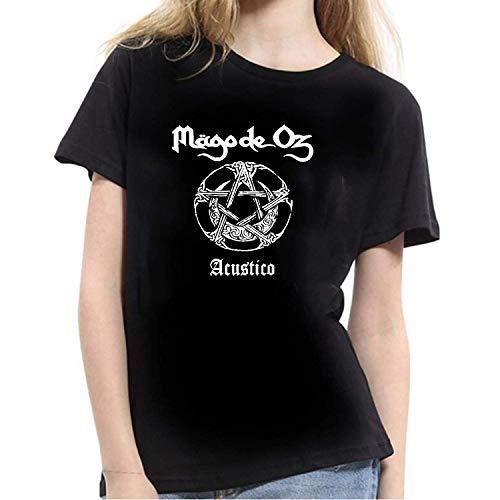 Jingliwang Mago De Oz Logo Camiseta de Mujer Negra