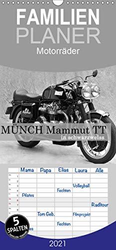 Münch Mammut TT in schwarzweiss - Familienplaner hoch (Wandkalender 2021, 21 cm x 45 cm, hoch)