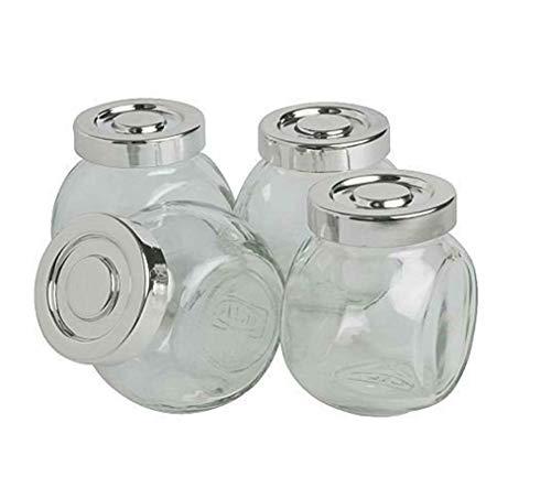 Tarro de cristal Set de 4/8/16/20, para hierbas, especias, caramelos, vidrio, Pack de 4