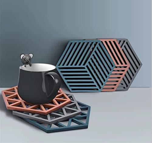 BOBOZHONG Untersetzer 6 Stück SchutzmatteTischmatte Geometrisches Untersetzer Matte Tischset Hitzebeständige Topfmatte Küchentisch Schutzmatte Wärme für heiße Schüsseln Töpfe Matten 2 Styles