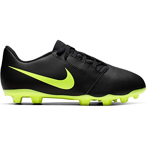 Nike Junior Phantom Venom Club FG Soccer Cleats (Black/Volt) (12 M Little Kid)