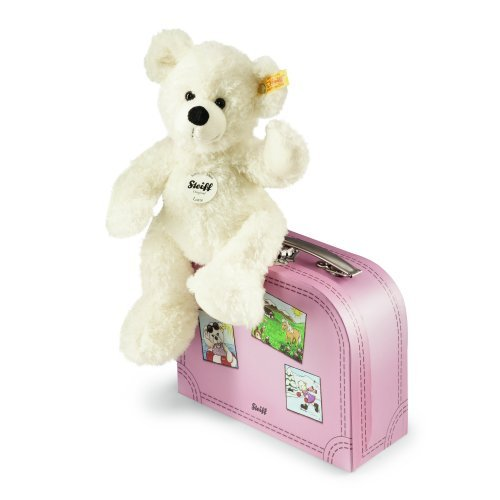 Steiff Lotte Teddy Bear In Suitcase, White