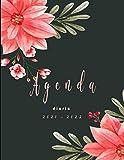 Agenda diaria 2021-2022: Planificador 1 día por 1 página - español 365 dias -flores  12 meses de abril de 2021 a marzo de...