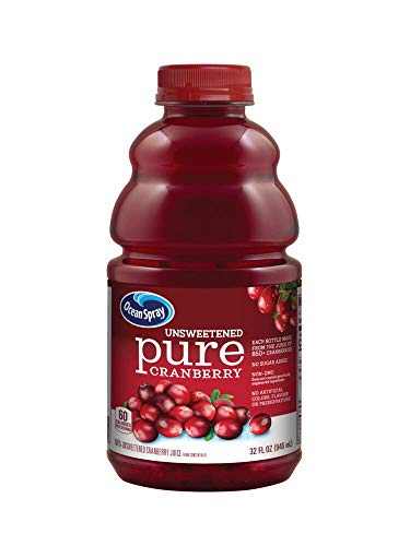 Ocean Spray 100% Pure Cranberry Juice, 32 Ounce (Pack of 8)