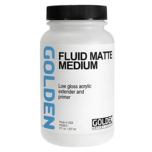 Golden Fluid Matte Medium 8-Ounce (0003520-5)