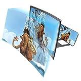 Anti-Blue-Light 3D Curve Screen Magnifier, 12' HD Expander Amplifier Projector for Video,...