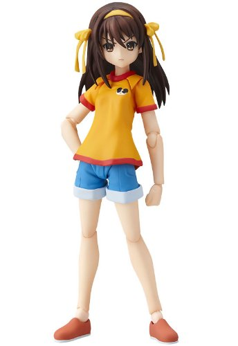 The Melancholy of Haruhi Suzumiya (Suzumiya Haruhi no Yuutsu) figma Action Figurine: Haruhi Junior High School Version 12 cm