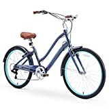 sixthreezero EVRYjourney Women's Casual Edition 7-Speed Cruising Hybrid Bike w/Integrated Cable...
