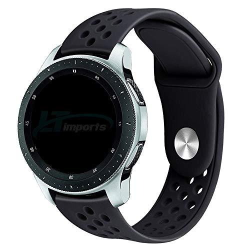 Pulseira Sport Total 22mm compatível com Samsung Galaxy Watch 3 45mm - Galaxy Watch 46mm - Gear S3 Frontier - Amazfit GTR 47mm - Huawei Watch GT 2 46mm - Marca LTIMPORTS (Preto)