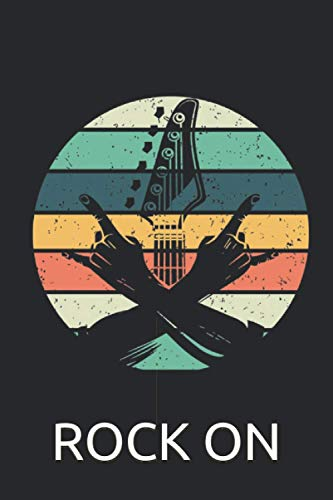 Gitarre Rock On Notizbuch: Hardrock & Heavy Metal Notizbuch für Musiker, Gitarristen und Rock\'n\'Roll Fans - 120 linierte Seiten für Termine, Notizen, als Tagebuch | ca. DINA5 | Rocker Geschenk Idee