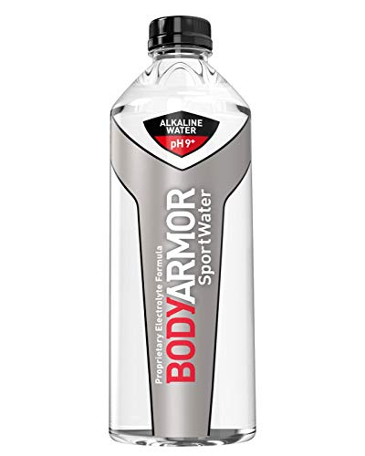 BODYARMOR SportWater Alkaline Water, Superior Hydration, High Alkaline Water pH 9+, Electrolytes, Perfect for your Active Lifestyle, 1 Liter, 405.6 Fl Oz