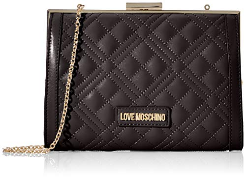 Love Moschino Jc4289pp0a, Bolso de mano. para Mujer, Negro (Black Quilted), 6x15x21 Centimeters (W x H x L)