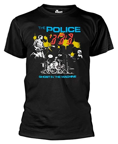 The Police 'Ghost In The Machine Live' (Black) T-Shirt (Large)