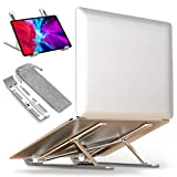 Laptop Stand, Aloptis Laptop Riser, Computer Stand for Laptop, Aluminum Foldable Laptop Stand for Desk, Compatible with Dell, HP, MacBook, Lenovo and More Upto 10-15.6' Laptops Notebooks