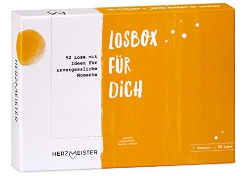 NEU: Losbox für Frau oder Mann | Als Geschenk zum Geburtstag, Mitbringsel oder Dankeschön | 50 Lose mit Ideen für Spiel, Spaß & Entspannung | Die Geschenkidee für Partner, Freund, Freundin & Kollegen