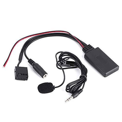 Yctze Adaptador de audio Bluetooth, Adaptador de cable AUX-IN Bluetooth para automóvil, Adaptador de módulo de audio Bluetooth con micrófono para llamadas manos libres apto para Focus 6000CD