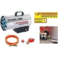 Rothenberger Industrial 1500000051 RoTurbo - Soplador con encendido piezoeléctrico, manguera y regulador, 18,2 kW