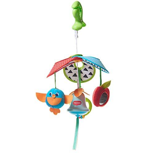 Tiny Love Pack & Go Mini Mobile Meadow Days Giostrina Portatile, Giochi Passeggino con Gancio Universale, Sonaglio Neonato, 0 Mesi +