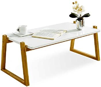 Best Canary Products Modern Multi-Purpose Bamboo Extra Long Coffee Table for Living Room or Bedroom, 50 I