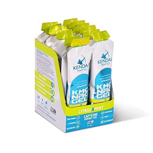 KMC NRG Gel+: Caffeine Energy Gel - Refreshing Citrus & Mint (12 x 70g) by Kendal Mint Co.