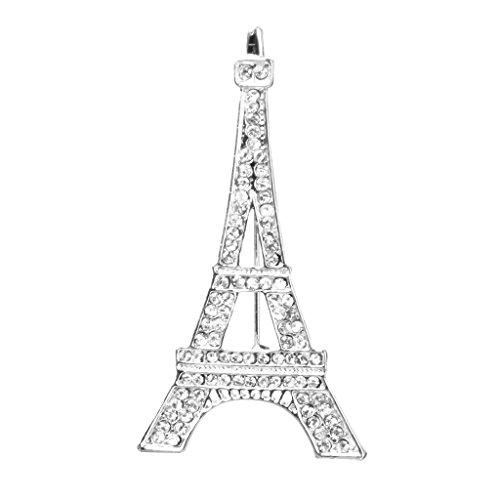 Romantische Eiffelturm Design Brosche mit Strass Geschenk / Hochzeit / Schal
