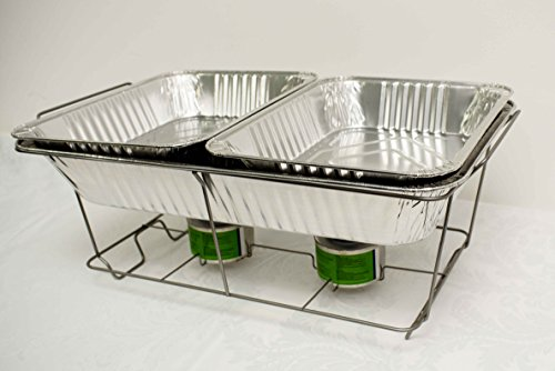 Decor Trader 5 x DISPOSABLE CHAFING DISH SETS FOOD PANS CATERING FOOD PARTIES EVENTS BBQS