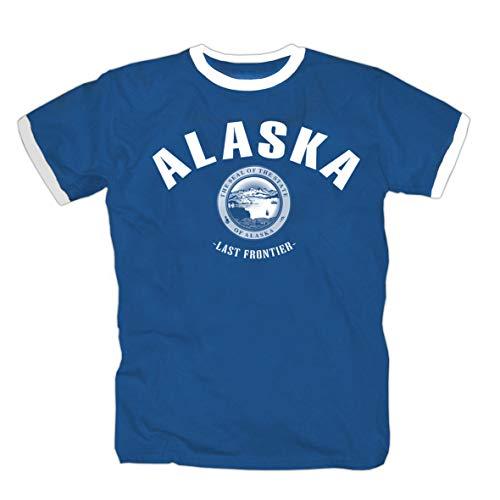 Alaska State Last Frontier Texas USA America Canada Shirt Maglietta Polo Camicia T-Shirt M