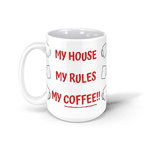 calanaram knives out Knives Out - My House My Rules My Coffee 15Oz Ceramic Coffee Mugs 10564857104363
