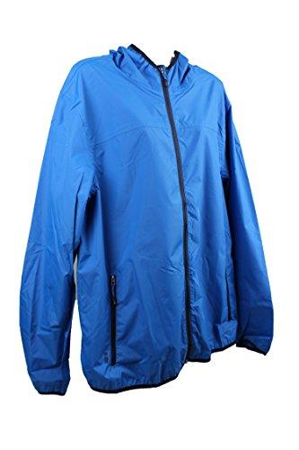 TCM Tchibo Regenjacke Jacke Pack me winddicht wasserdicht Unisex Blau (L)