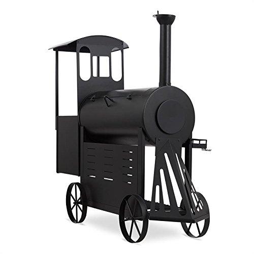 KLARSTEIN Dampflok - Smoker Grill, Look Locomotive Western, Résiste...