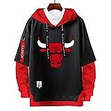 Sudaderas con Capucha de Jordan,23 # bulls Pullover Uniforme de Baloncesto Fans Camisetas de Entrenamiento, para Hombre y Mujer chicago hoodies,Moda Casual, sin Pelota,sin Deformación,Blacka-S