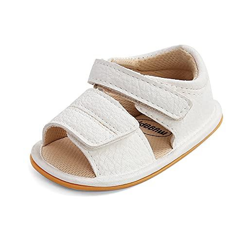 MK MATT KEELY Baby Sandalen Mädchen Jungen Sommer Krabbelschuhe Lauflernschuhe Sandalen mit Gummi Anti-Rutsch Sohlen