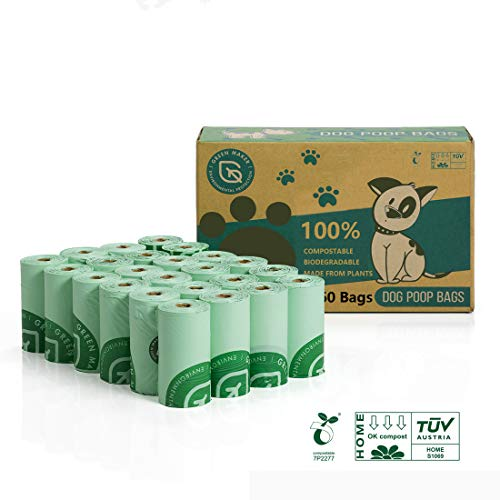 Green Maker 100% Biodegradabili Sacchetti di Cacca di...