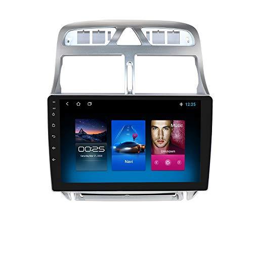 Autoradio GPS Android 10 con touchscreen da 9 pollici compatibile con Peugeot 307 307CC 307SW 2006-2013, supporto stereo WIFI Bluetooth USB Mirror Link