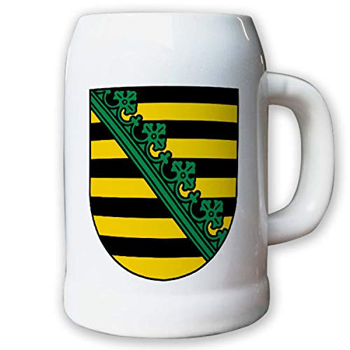 Krug/Bierkrug 0,5l - Wappen Landeswappen Fahne Flagge Sachsen Geschichte #9419