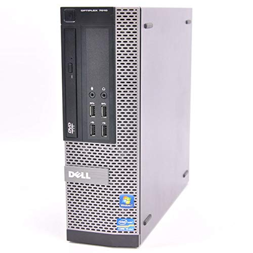 Dell OptiPlex 7010 SFF 3rd Gen Quad Core i5-3470 8GB 480GB SSD DVDRW Windows 10 Professional 64-Bit Desktop PC Computer (Renewed)