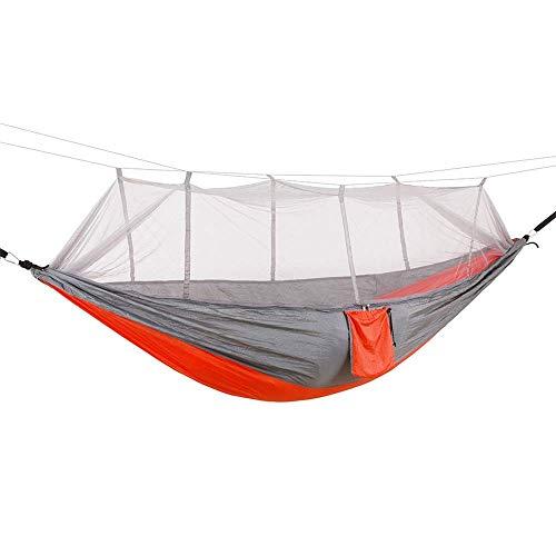 Hamaca para Acampar, Hamaca Hamaca para Acampar al Aire Libre Apertura rápida automática con mosquitera Hamaca para Acampar con Doble antivuelco (Color: A,