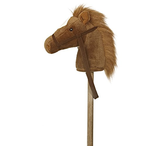 AURORA 2416 World Giddy Up Pony Hobby Horse Plush Toy (Brown/White)