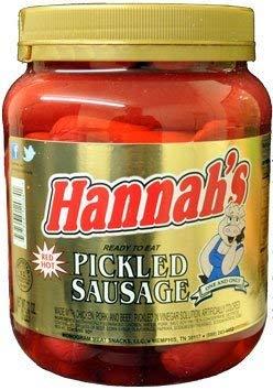 Hannah's Pickled Sausage 32oz. (1 JAR)