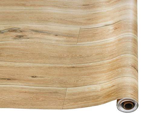Papel Pared 259D MuralPapel pintado de madera desgastada de imitación Papel de contacto autoadhesivo de vinilo, usado para decoración de dormitorio pared de baño-Madera_PORCELANA_6mx45cm