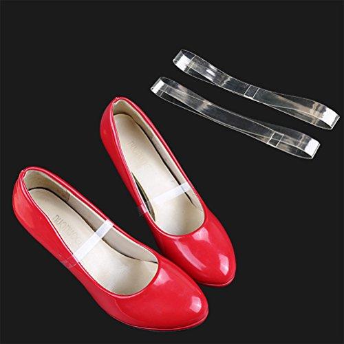HEALIFTY Damen Schuhriemen Invisible High Heel Strap Halten Lose Schuhe mit hohem Absatz (Transparent)