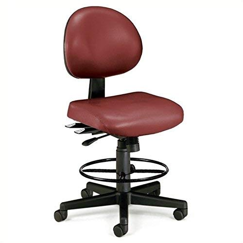 OFM 24 Hours Anti-Microbial Vinyl Computer Task Chair with Drafting Kit