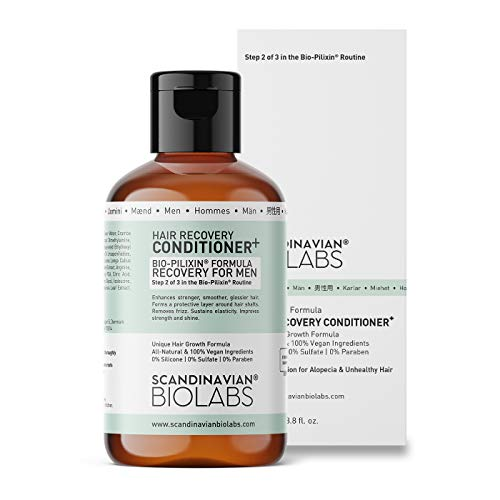 Scandinavian Biolabs Hair Recovery Conditioner for Men | All-Natural Hair Growth Treatment | Protects Hair Strands, Recovers Hair Shafts, No Split Ends