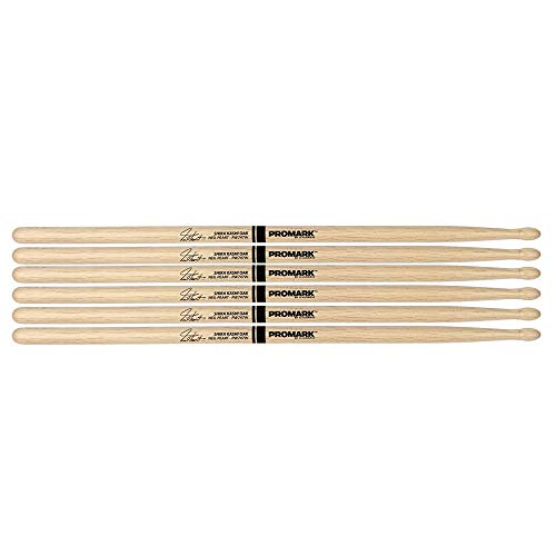 Promark Japanese White Oak 747 Neil Peart Wood Tip Drum Stick (3 Pair Bundle)