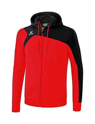 erima Kinder Trainingsjacke Mit Kapuze Club 1900 2.0 Trainingsjacke mit Kapuze, rot/schwarz, 164, 1070701