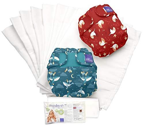 Bambino Mio, miosoft pack de couches lavables, voyageur endormi b, taille 2 (9kg+)