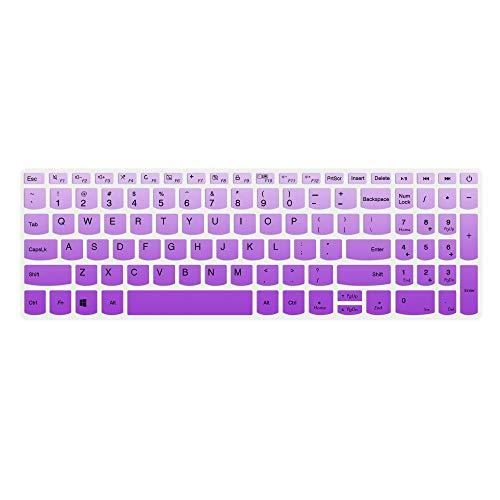 Tastatur-Abdeckung, kompatibel mit Lenovo IdeaPad 320/330/330s 340s 520 720s 130 S145 L340 S340 15,6 Zoll, IdeaPad 320/330 17,3 Zoll, IdeaPad 520 15,6 Zoll Laptop, gradualviolett